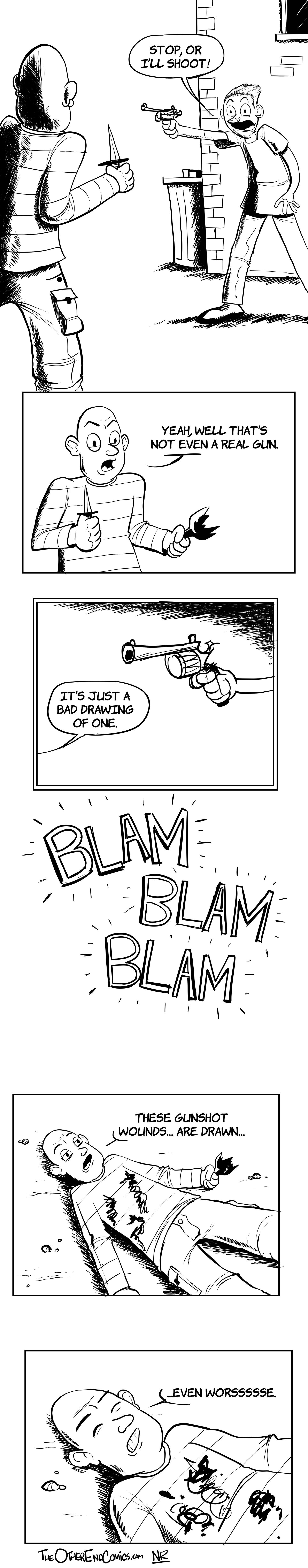 Twist! EVERYTHING in this comic is badly drawn!