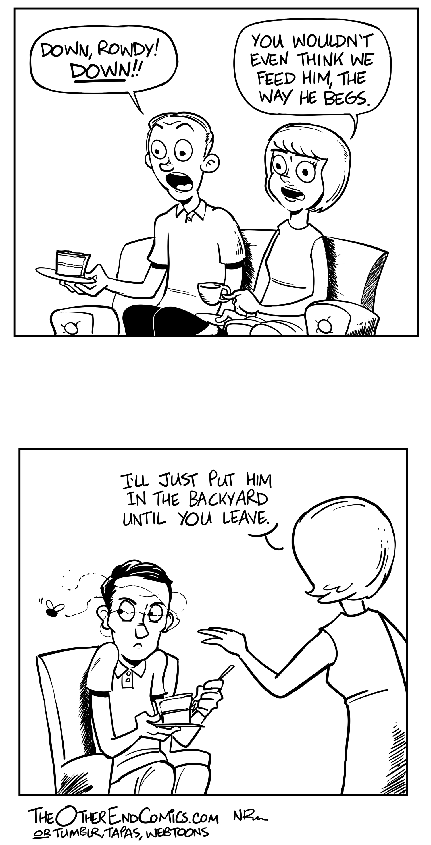 How is that lady even holding her teacup? This comic is so fake.